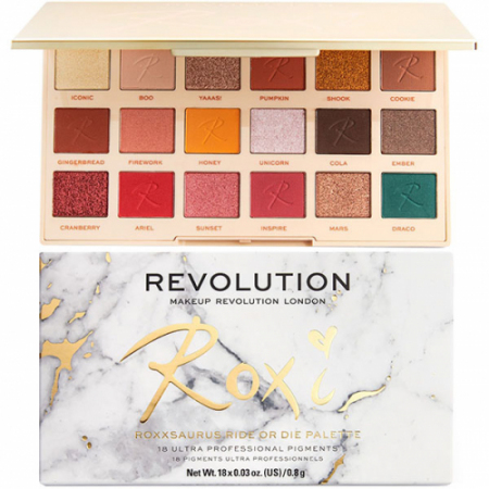 Тени для век Makeup Revolution x Roxxsaurus Ride Or Die Palette