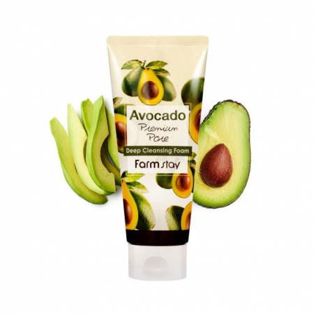 (Китай) Очищающая пенка с экстрактом авокадо FarmStay Avocado Deep Cleansing Foam 180мл