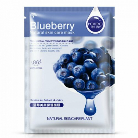 Тканевая маска Rorec Blueberry Natural Skin Care Mask