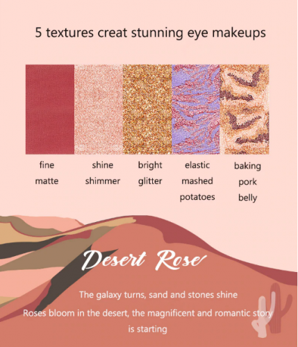Профессиональная Палитра Теней Eyeshadow Palette Desert Rose 20 Colors
