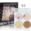 Хайлайтер SeVen Cool Brow to Glow, 4 цвета тон 02