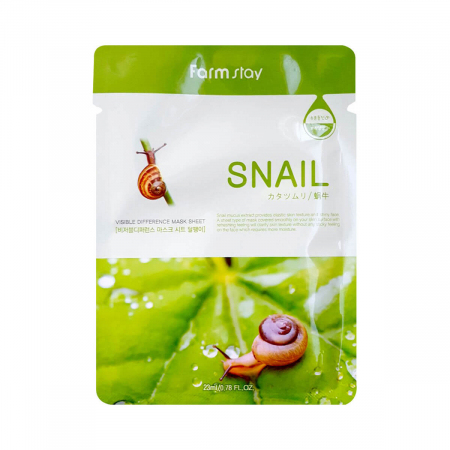 (Китай) Тканевая маска FarmStay Visible Difference Mask Sheet Snail
