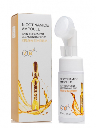 Пенка для умывания Bioaqua Nicotinamide Ampoule Skin Treatment Cleansing Mousse 120мл